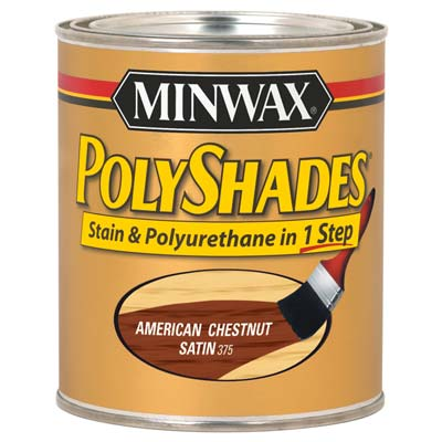 can of Minwax Oil-based Stain-and-Poly Combo
