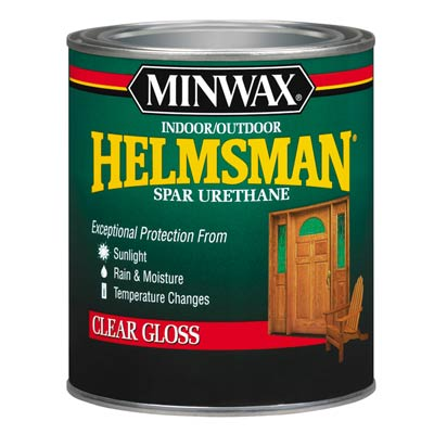 can of Minwax Spar Urethane for indoor and outdoor use