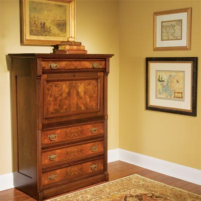 a richly finished dresser