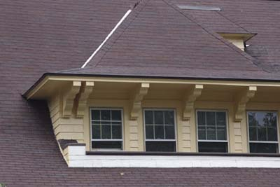 Flared gable dormers