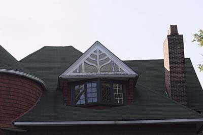 Truss-Decorated Gable dormer