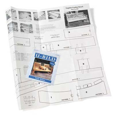 U-Bild package and set of blueprints for a patio bench
