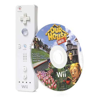 a Wii controller with an