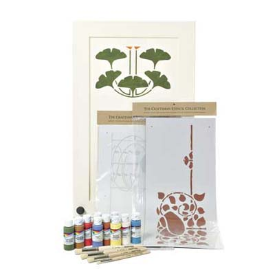 a stencil kit in Arts & Crafts Style