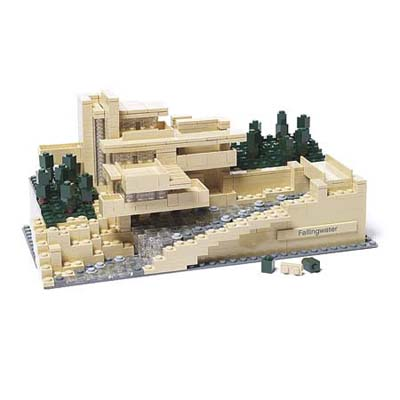 a LEGO set for Frank Lloyd Wright's Fallingwater