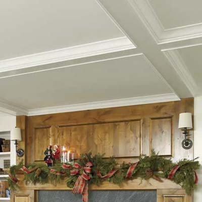 coffered ceiling hiding two new 
