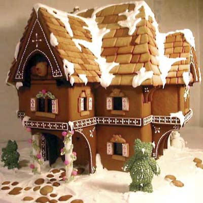 gingerbread bear house uses x-acto knives to shave away distortion