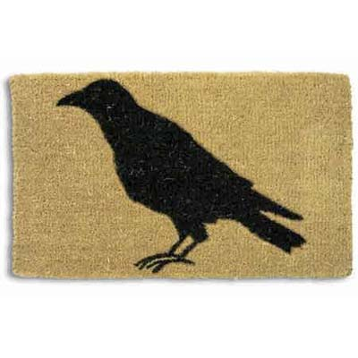 door mat with image of crow