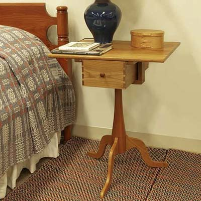 shaker workshops sewing stand which would make a great bedside table