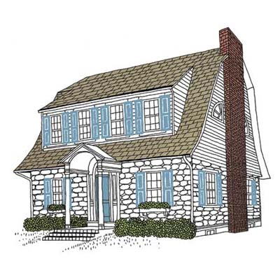 regional house style northeast dutch colonial revival