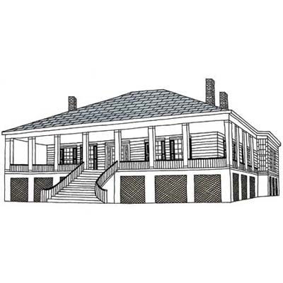 raised plantation cottages are ideal of staying dry in an area prone to flooding