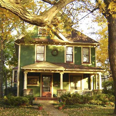 an old Victorian-era house in Woodruff Place, Indianapolis, Indiana