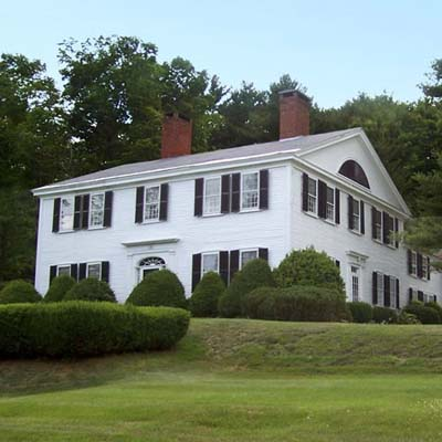 a large Cape Cod house in Hopkinton, New Hampshire