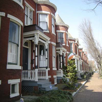 Federal-style antebellum house in Church Hill, Richmond, Virginia