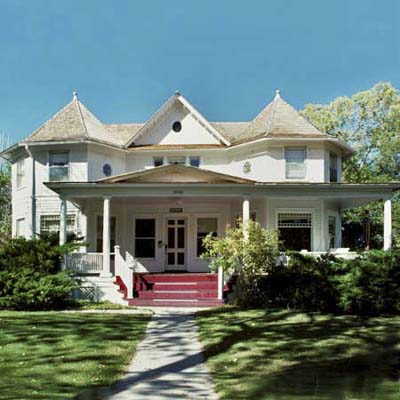 an old Mission-style bungalow in the South Wolcott Historic District