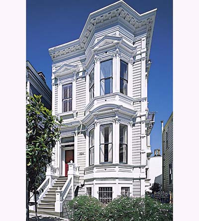 Italianate townhouse exterior