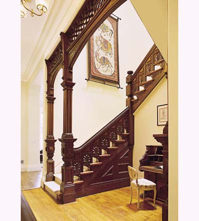 Italianate townhouse stairway