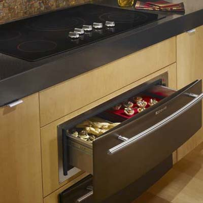 Jenn-Air electric cooktop in oil-rubbed bronze