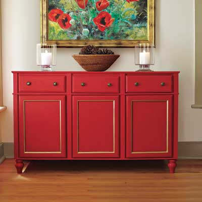 Installing sideboard from stock cabinets