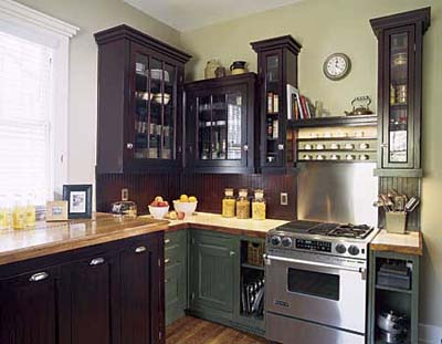 kitchen with mixed design styles
