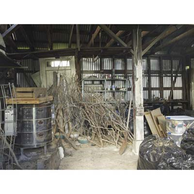 interior of the shed/pottery studio