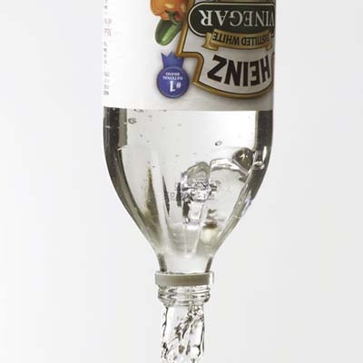 Heinz vinegar bottle pouring out