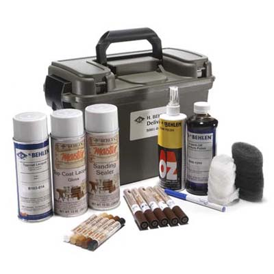 H. Behlen Master Delivery Kit contains all the tools for minor furniture repair and refinishing