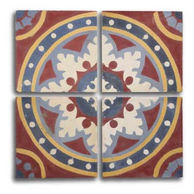 Cuban Tropical Tile creates custom combinations of traditional cuban tile patterns