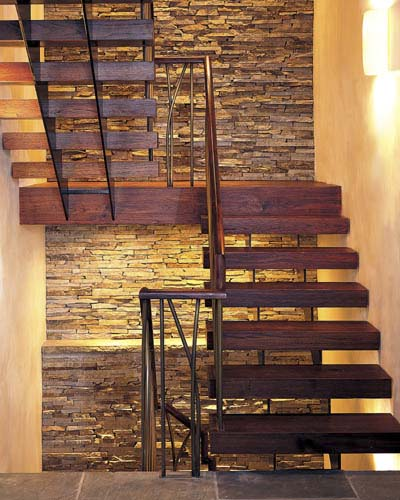 teak staircase in the Cambridge House