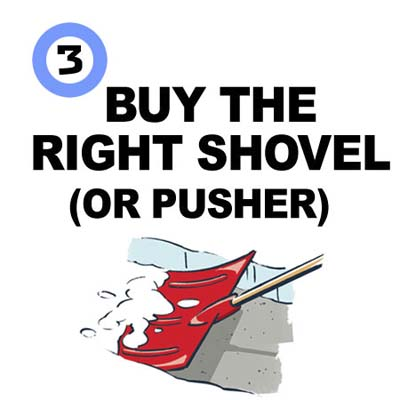 Buy the Right Shovel or Pusher