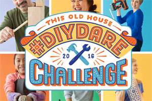 group of DIY dare participants behind the logo for the this old house 2016 #diydare contest