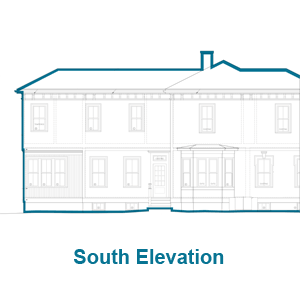 South Elevation of the Arlington Italianate TOH TV House Project