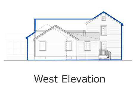 bedford house west elevation