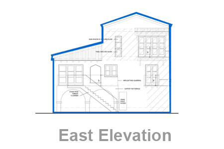 los angeles house east elevation