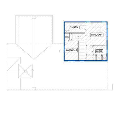 los angeles house second floor plan