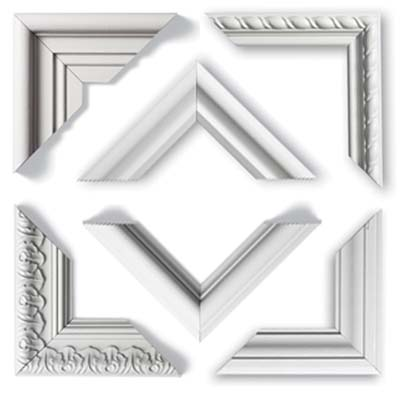 various types of molding for use as wall frames