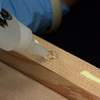 glue the baluster supports in place