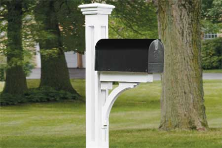 how to build a paneled mailbox post