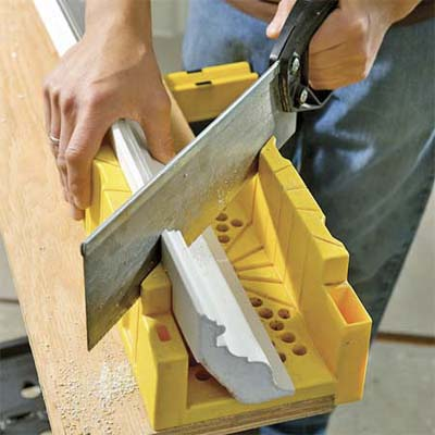 miter cut an inside or outside corner