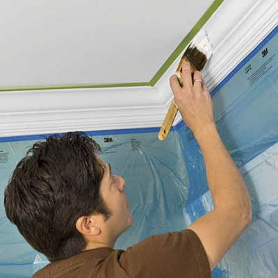 prime and paint the molding to match the door and window casings in the room