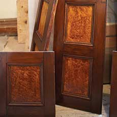 wood doors with special finish