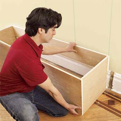 mudroom bench seat plans