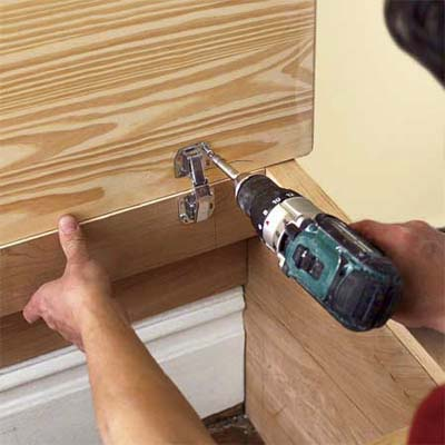 installing the mudroom bench seat lid