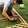 attach horizontal frame pieces