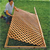 set the lattice in place