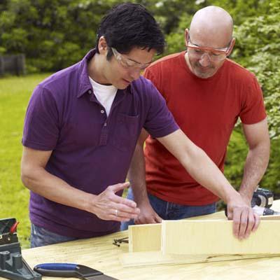 man building jig