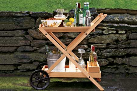 a finished bar cart from Narita Trading Company