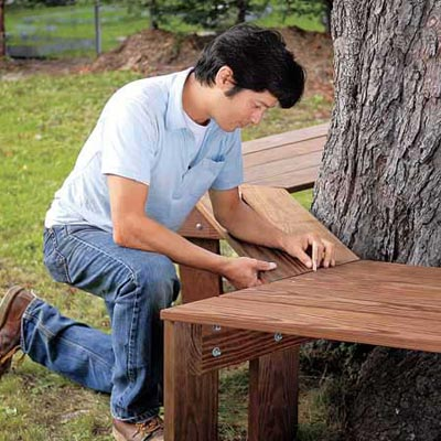 Attach The Remaining Sections How To Build A Tree Bench