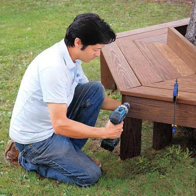 How To Build A Tree Bench Outdoorbeing