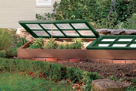 a completed cold frame